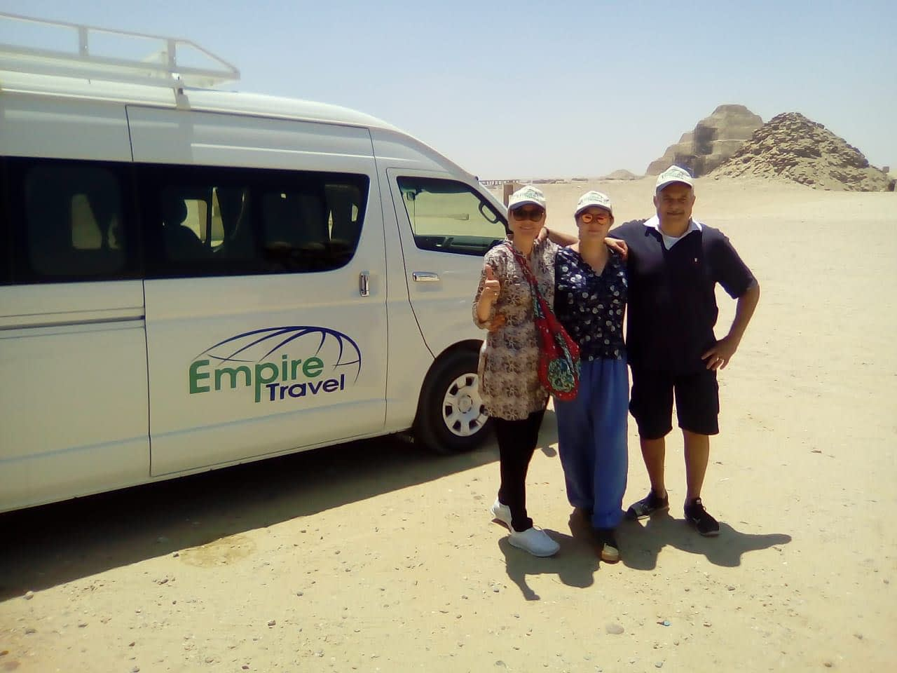 Travellers Photo with Empire Travel Bus